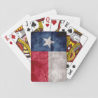 Weathered Vintage Texas State Flag Playing Cards