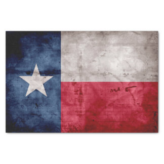 Weathered Vintage Texas State Flag Tissue Paper