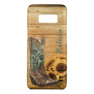 Weathered Western Country sunflower cowboy boot Case-Mate Samsung Galaxy S8 Case