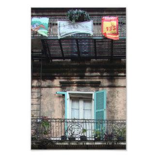 Weathered window - French Quarter Photo Print