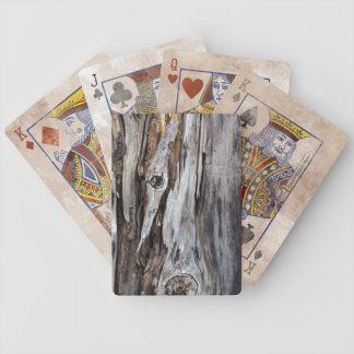 Weathered Wood Distressed Playing Cards