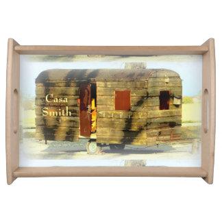weathered wood gypsy caravan serving tray