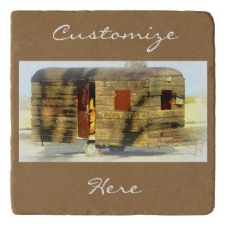 Weathered wood gypsy caravan trivet