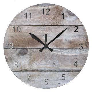 Weathered Wood Large Clock