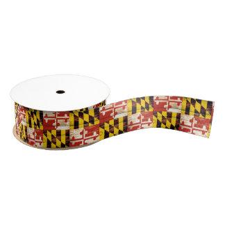 Weathered wood Maryland flag craft ribbon Grosgrain Ribbon