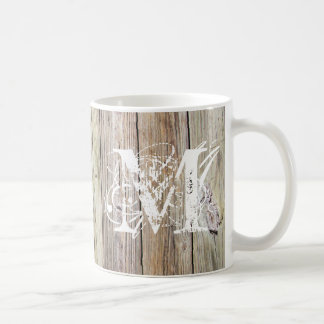Weathered Wood Monogrammed Classic Mug