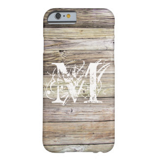 Weathered Wood Monogrammed iPhone 6/6s Case