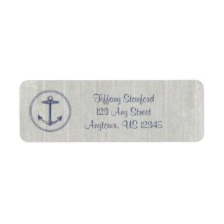 Weathered Wood Nautical   Personalized Return Address Label