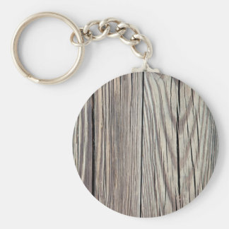 Weathered Wood Plank w Grain Background Template Keychain