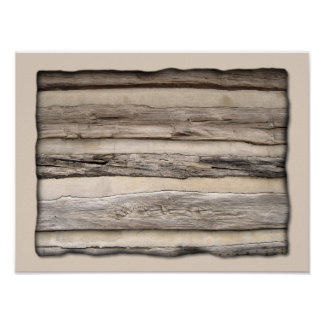 Weathered Wood Planks Poster