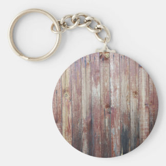 Weathered Wood Wall Texture Basic Round Button Keychain