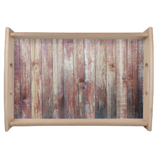 Weathered Wood Wall Texture Serving Tray