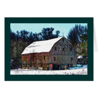 Weathered wooden barn on the National Pike Card