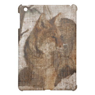 Weathered Wooden Fox Case For The iPad Mini