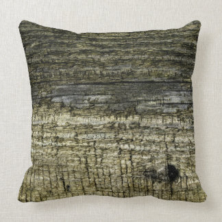 Weathered Wooden Patio Board Grunge Shabby Chic Throw Pillow