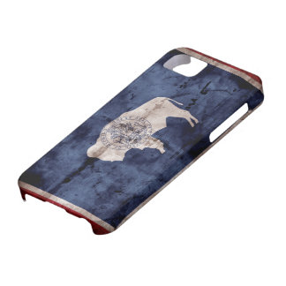 Weathered Wyoming Flag iPhone 5 Cases