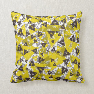Weathered Yellow Grey Throw Pillow