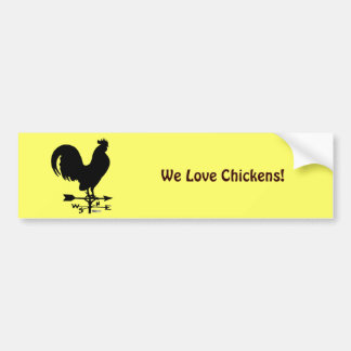 Weathervane Rooster Bumper Sticker