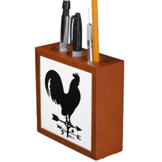 Weathervane Rooster Desk Organizer