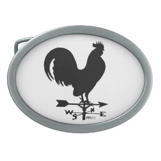 Weathervane Rooster Oval Belt Buckle