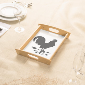 Weathervane Rooster Serving Tray