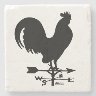 Weathervane Rooster Stone Coaster