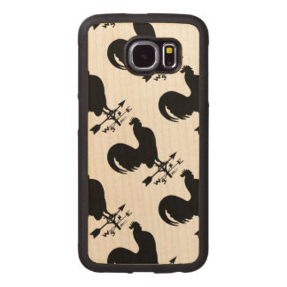 Weathervane Rooster Wood Phone Case