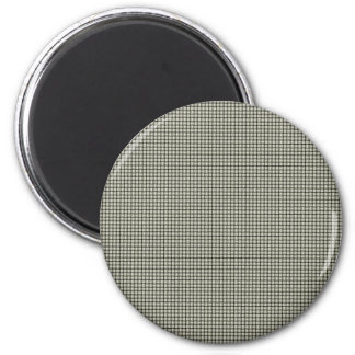 Weave - Beige 2 Inch Round Magnet