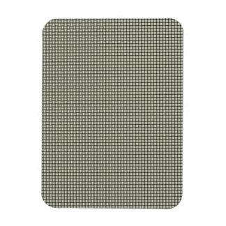 Weave - Beige Rectangular Photo Magnet