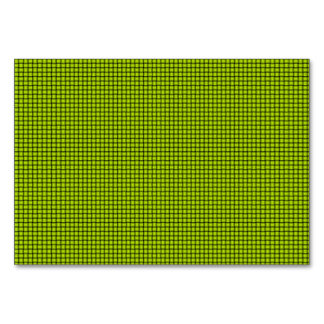 Weave - Fluorescent Yellow Table Card