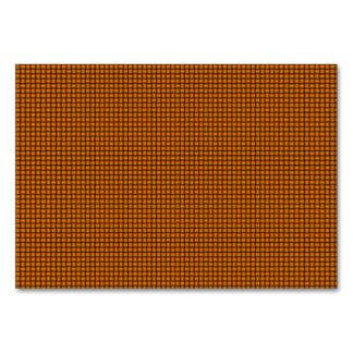 Weave - Orange Table Card