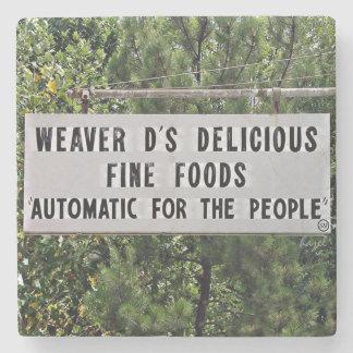 Weaver D's,Athens,Georgia,Marble Stone Coaster. Stone Coaster