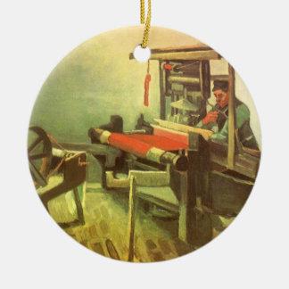 Weaver Facing Left Spinning Wheel Vincent van Gogh Ceramic Ornament