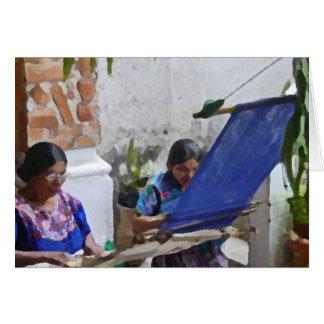 Weaving in Antigua drybrush Card