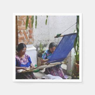 Weaving in Antigua drybrush Disposable Napkin