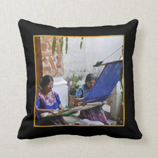 Weaving in Antigua Throw Pillow