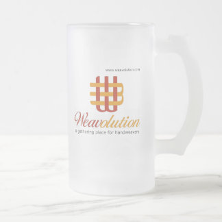 Weavolution Frosted Glass Beer Mug