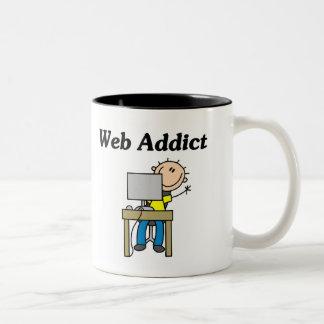 Web Addict Tshirts and Gifts Two-Tone Coffee Mug