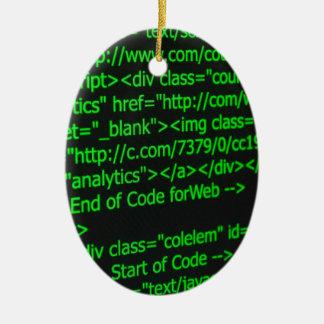 Web Code Ceramic Ornament