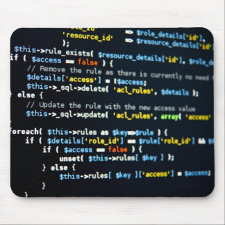 Web Code Mousemat Mouse Pad