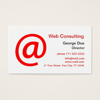 Web Consulting Business Card