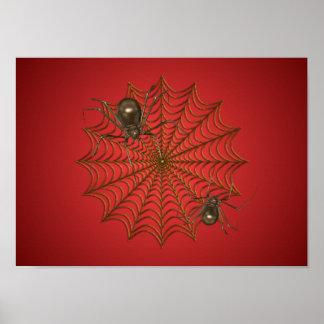 Web d'affiche d'araignées