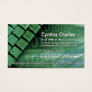 Web Design-1 Business Card template (willow)