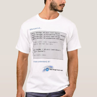 Web Design Forums.net T-Shirt (CSS with IE)