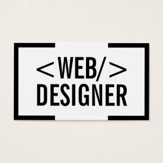 Web Design Plain Bold Black Border Elegant Business Card