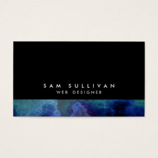 Web Designer Internet Skills Abstract Blue Cloud Business Card