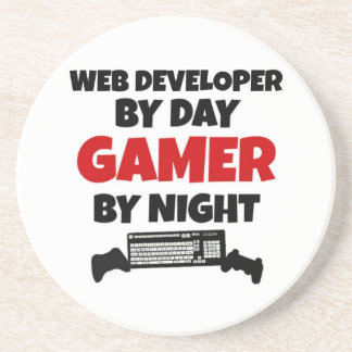 Web Developer by Day Gamer by Night Coaster