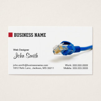 Web Internet Marketing Business Card