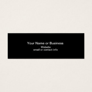 Web of Color Mini Bookmark Business Card