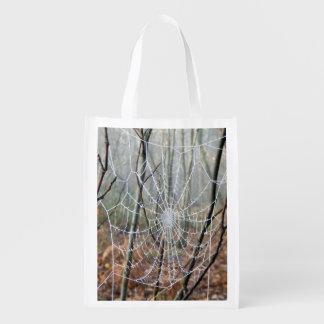 Web of European Garden Spider Reusable Bag